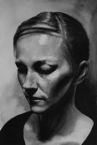 Carolina In the dark Watercolour on Watercolour Paper By Robert O'Brien