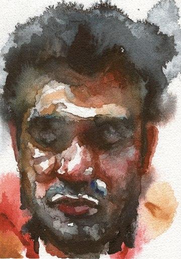 Part of Postcard Project Watercolour on Watercolour Paper.