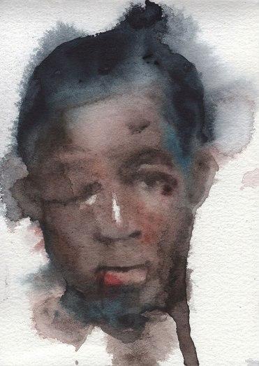 Black eye, from sketchbookWatercolour on Watercolour Paper By Robert O'Brien